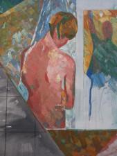 Zonder titel/douche, 2008, 130 x 165, olieverf
